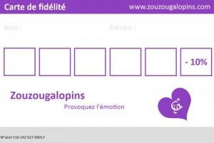 photo de la carte de fidélité de Zouzougalopins