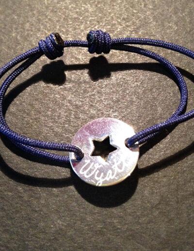 photo bracelet cible étoile gravée
