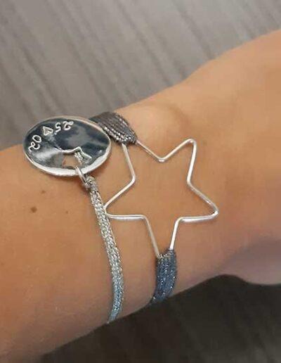 photo bracelet en lurex thème étoile
